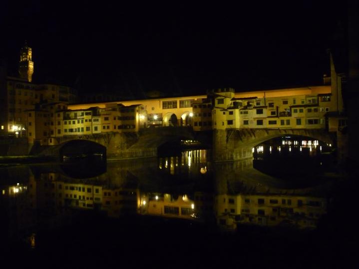 Pnte Vecchio vue de nuit