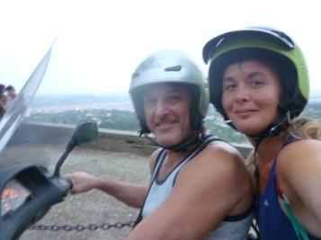 Tour de scooter avec Andréa à Florence