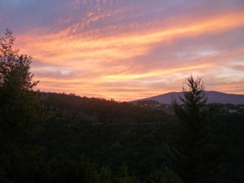 Coucher de soleil à Fiesole