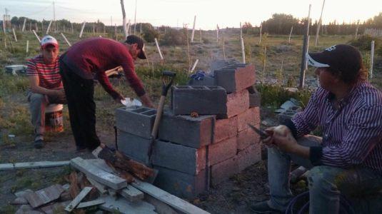 Asado dans l'hotel en construction