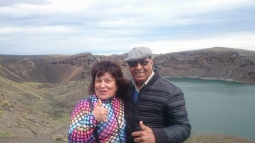 Laguna azul avec Sandra et Juan