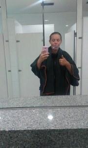 Après une bonne douche dans une station essence COPEC