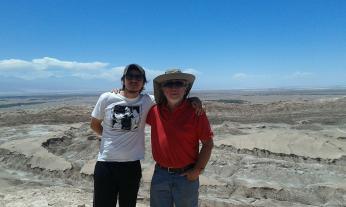 Vallée de la lune à San Pedro de Atacama avec Daniel et José